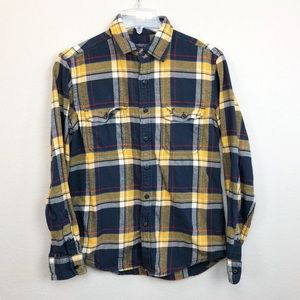 American Eagle Athletic Fit Flannel Button Down